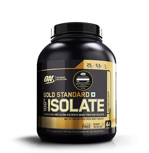 Optimum Nutrition (ON) Gold Standard 100% Isolate Whey Protein Powder