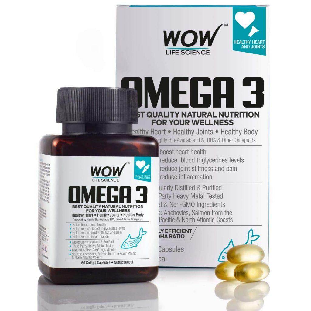 WOW Omega-3 Fish Oil Capsules