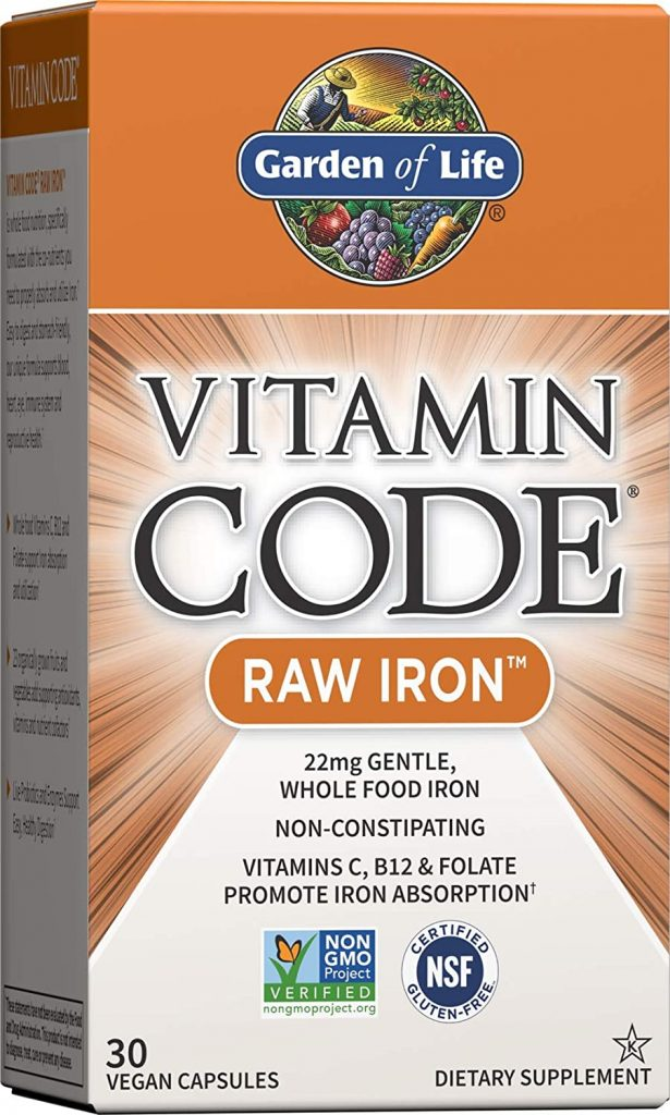 Garden of Life Vitamin Code Raw Iron Supplement