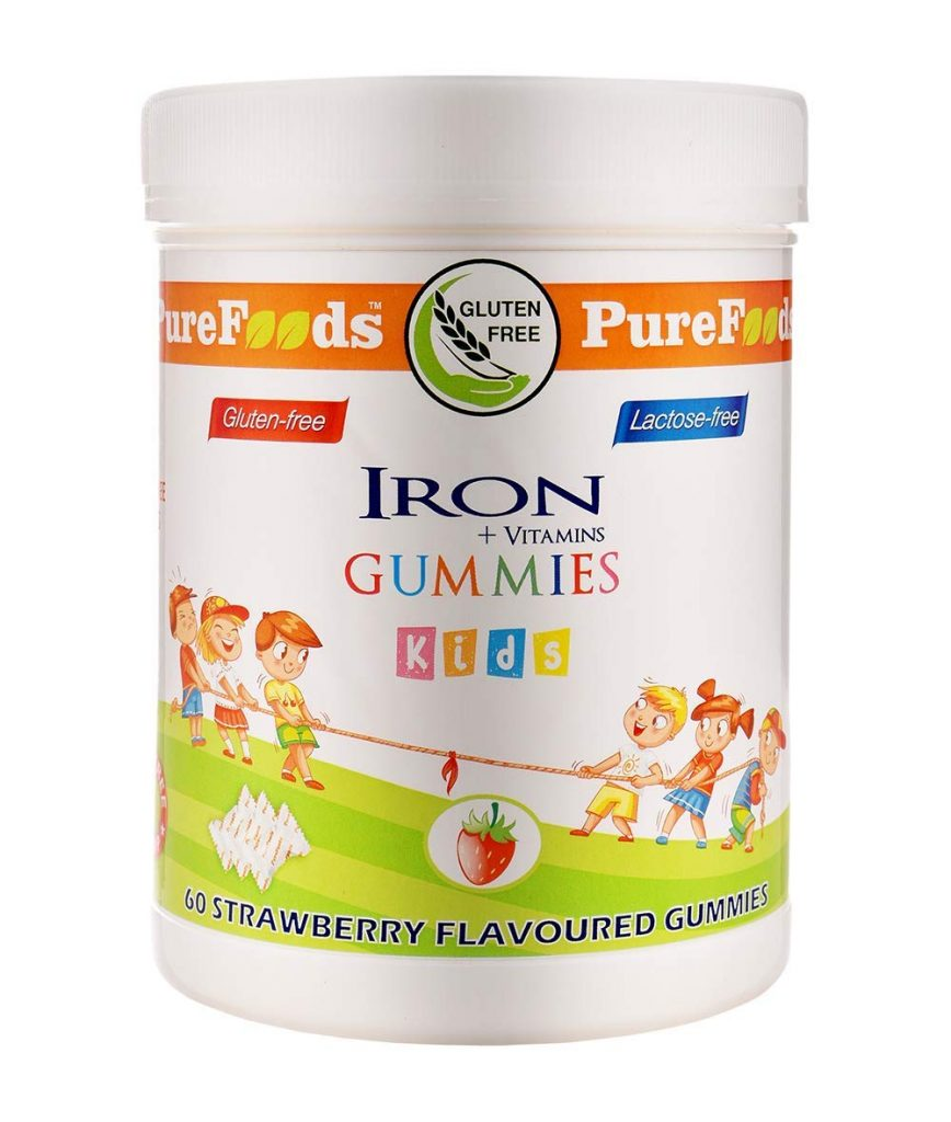 PureFoods Iron + Vitamins Sugar Free Gummies For Kids